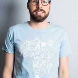 "#cairo2cape Shirt ""Tierwelt"" hellblau"